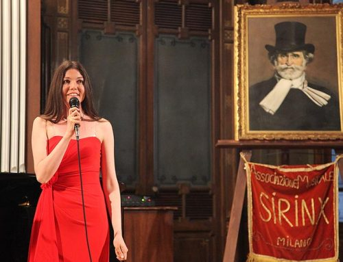 "07/06/2014: Susy Rottonara guest star at the Big Opera and Instrumental Concert ""Grande Concerto lirico vocale e strumentale"" in the Casa Verdi in Milan"